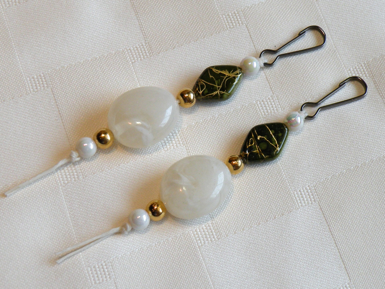 2 zipper pulls purse bling charms hostess gift