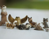 8 Cute Miniature Porcelain Forest Animals