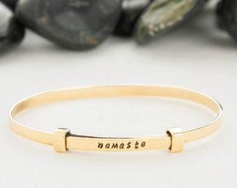 Yoga, Namaste, Namaste Gifts, Yoga Gifts, Yoga Gift, Yoga Jewelry, Yoga Bracelet, Namaste Jewelry, Unique Gifts, Namaste Bracelet, b252BR
