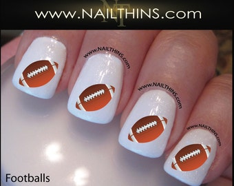 Soccer nail decal nail art nail design nailthins football nail decals foot ball nail art design nailthins prinsesfo Images