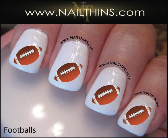 Football Nail Decals Foot Ball