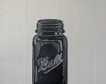 Mason Jar Chalkboard, Home Decor, Kitchen