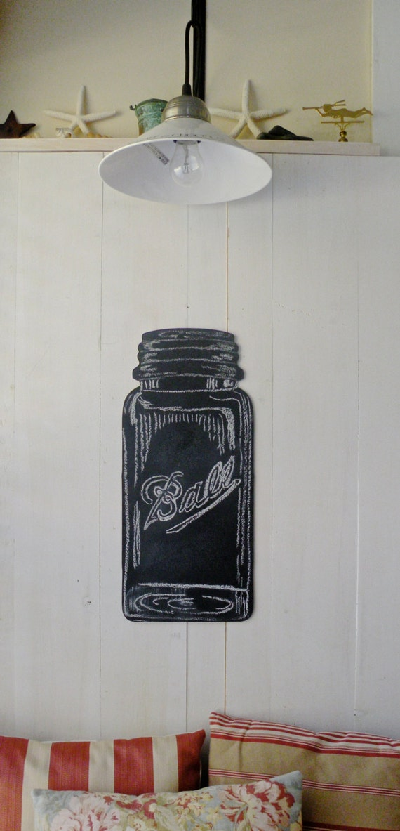 Mason jar chalkboard home decor kitchen for Kitchen jar decoration