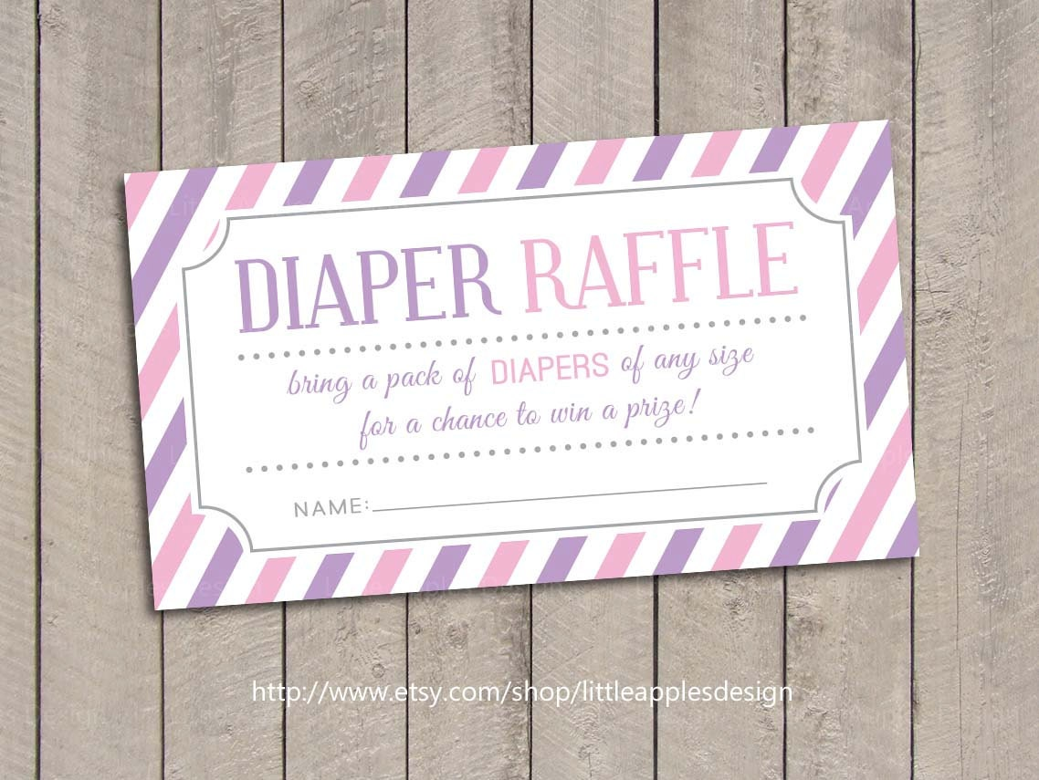 baby shower diaper raffle tickets pink baby shower diaper