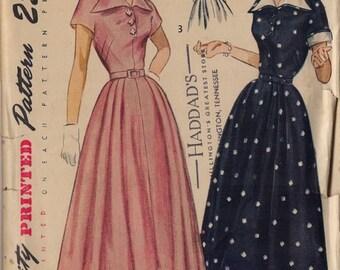 Vintage Simplicity 2878  1940's Dress   Size 14