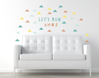 Run Amok Wall Decals - Quote Fabric Wall Decals in Large