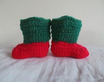 Hand Crocheted Baby Christmas Cowboy/Cowgirl Boots- NOW AVAILABLE