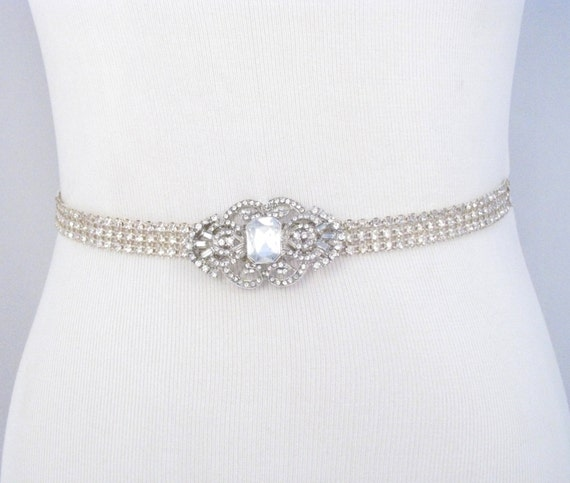 bridal sash rhinestone wedding belt by