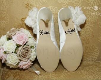 Bridesmaid Wedding Shoe Decal