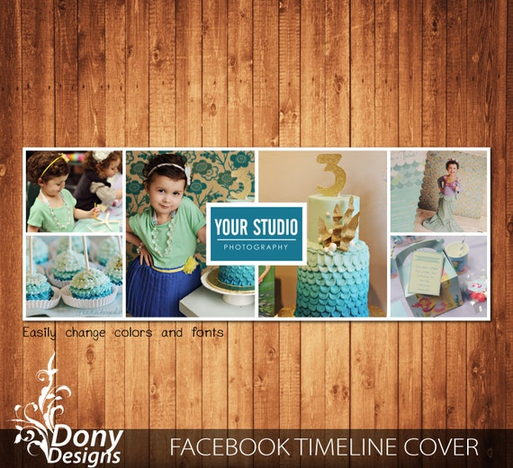 Facebook timeline cover template photo collage by DonyDesigns