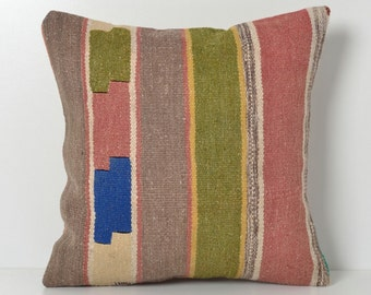 Striped kilim pillow, pillow, kilim pillow, kilim pillows, decorative pillows, kilim pillow cover, accent pillow, cushion covers stripe