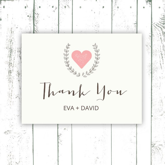 wedding thank you cards simple wedding by mooseberrypaperco