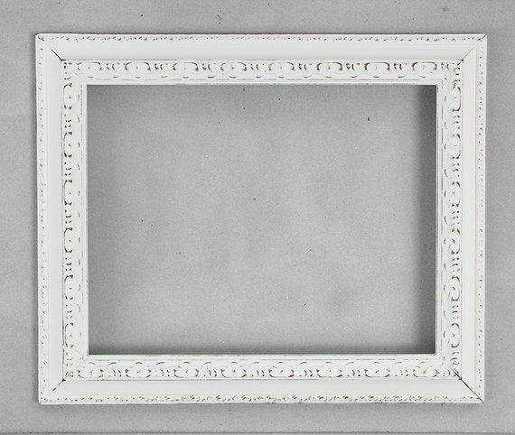 11x14 ornate frame antique off white 11 x 14 beautiful distressed shabby chic frame wedding