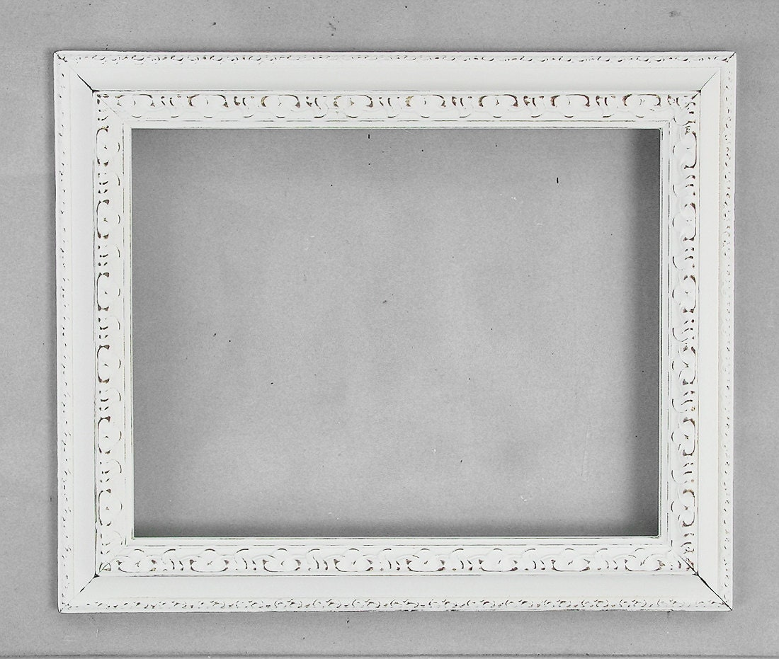 11x14 ornate frame antique off white 11 x 14 beautiful - Antique white picture frames ...