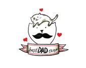 Cat Card - Best Dad Ever
