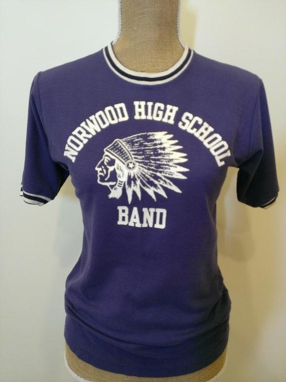 Vintage high school band shirt norwood high school of for High school band shirts