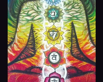 CHAKRA Meditation Painting Print