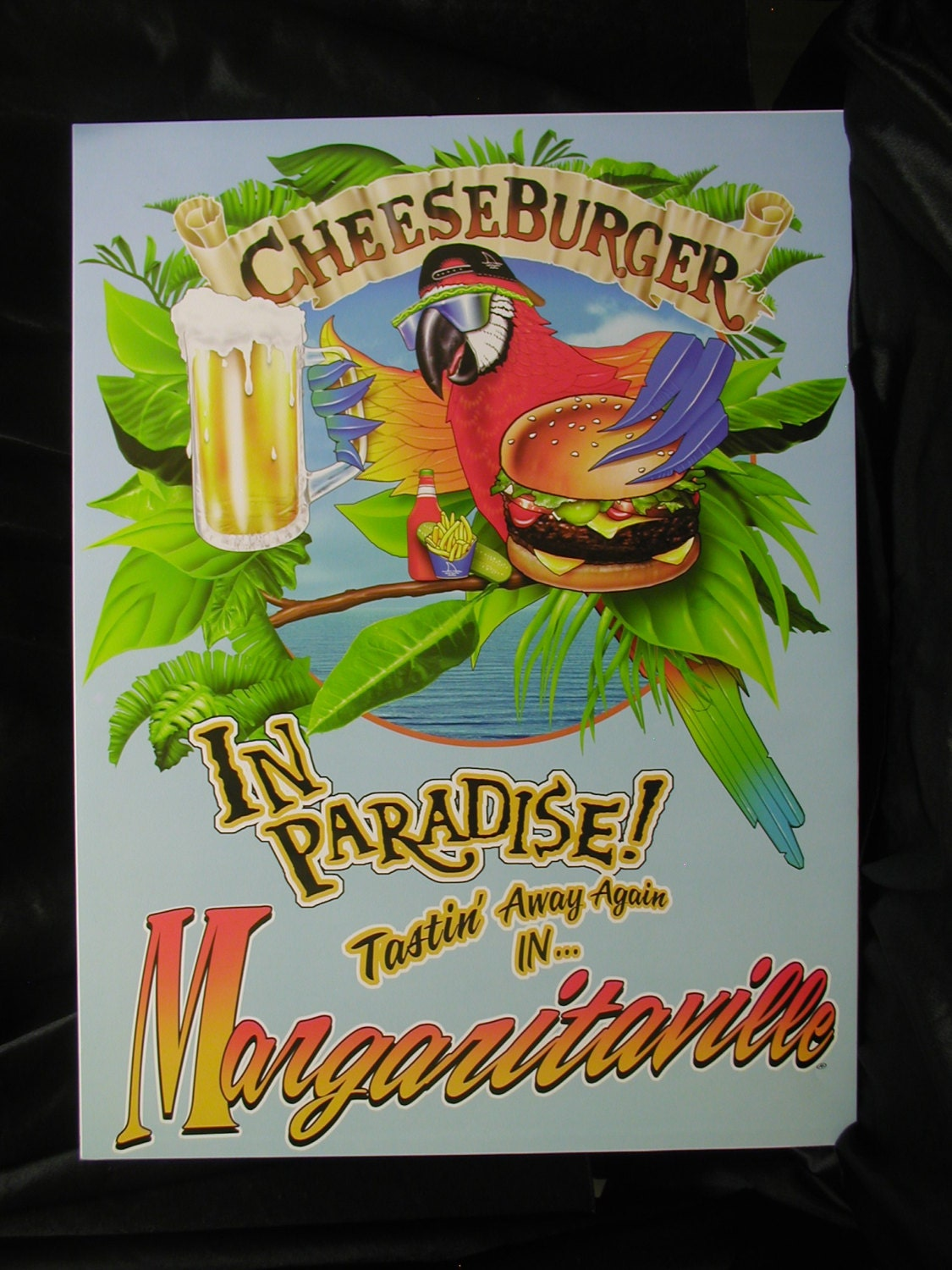 Jimmy Buffett Margaritaville Vintage Poster Cheeseburger In
