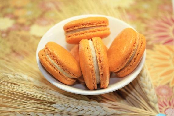 Pumpkin Spiced French Macaron - 1/2 dozen