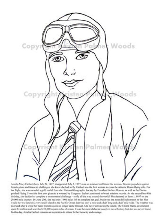Coloring Page Of Amelia Earhart S Plane Coloring Pages Amelia Earhart Coloring Page