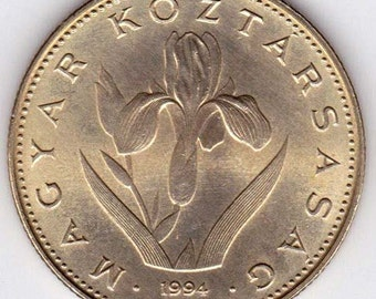 Iris flower coin - Hungary Iris flower Coin - Iris flower collectible coin - 20 forint