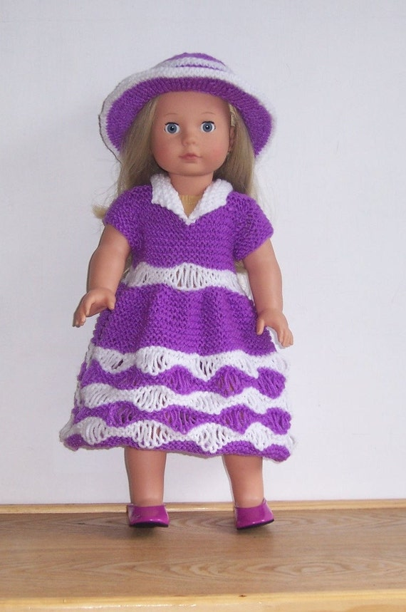 Knitting Patterns For Our Generation Doll Clothes : Dolls clothes PDF knitting pattern for 18 19doll