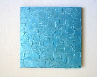 Impasto Painting, Metallic Painting, Blue Painting, Modern Painting, Home Decor, Textured Painting, Abstract Painting, Made to order