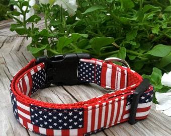 Dog Collar- American Flag