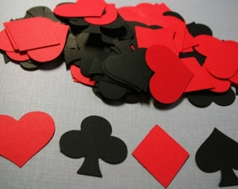 100  playing card suits Diamond, Club, Spade and heart