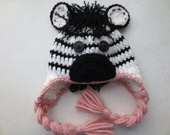 Crochet Baby Zebra Hat Pattern : Unique crochet zebra hat related items Etsy