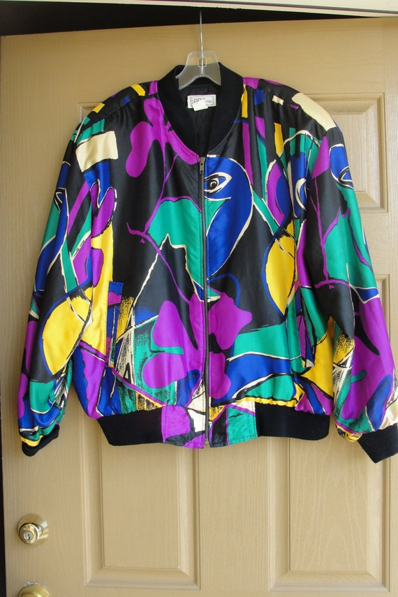 Vintage 90s Picasso windbreaker jacket one size fis all by GDT