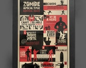 Zombie Survival Rules Print, Apocalypse Guide, The Walking Dead, WWZ, Zombieland, Framed A3 Poster