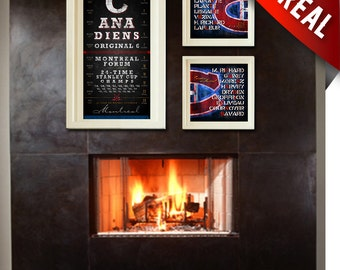 Montreal Canadiens - Hat Trick Special - Perfect Christmas, Anniversary or Birthday Present - Unframed Prints