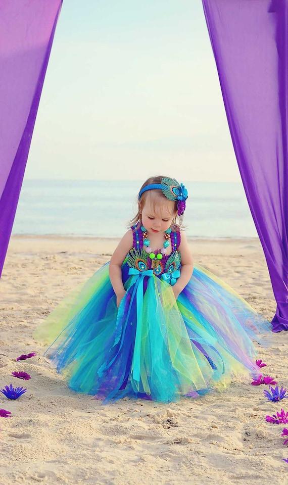 The Cutest Peacock Flower Girl Dresses