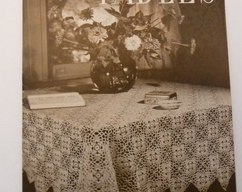 Crochet for Tables - 1943 - Pattern Book - Tablecloths - Place mats