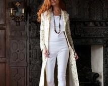 Silk Aquila Coat in Ivory