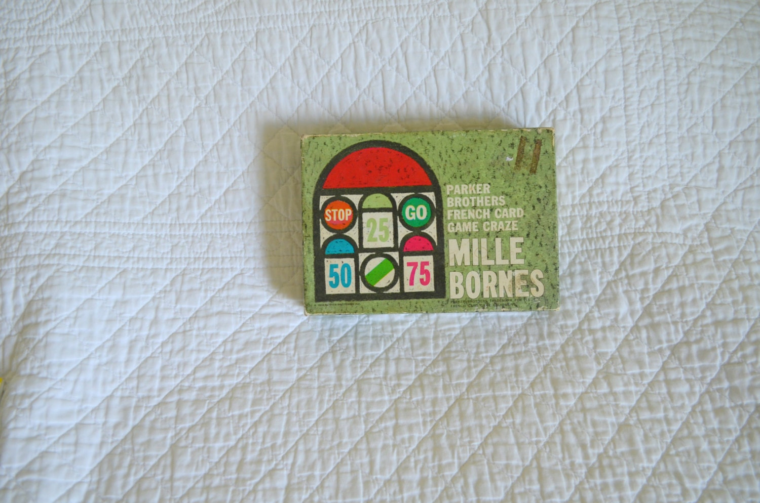 Vintage 60s mille bornes french card game by for Dujardin 1000 bornes
