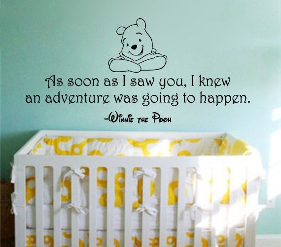 ?zoom & Winnie the Pooh Wall Decal: As Soon As I Saw You I Knew An