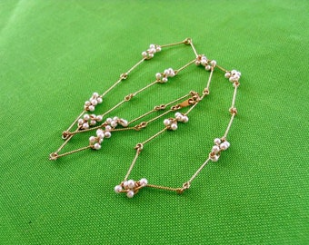 Vintage Avon Simulated Seed Pearl Necklace (Item 500)