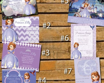Custom Sofia the First Birthday Invitations (Photo can be added)