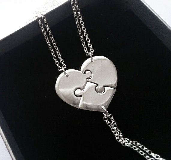 best friend jewelry for 3 3 best friend necklace 3 necklace 3 puzzle 5136