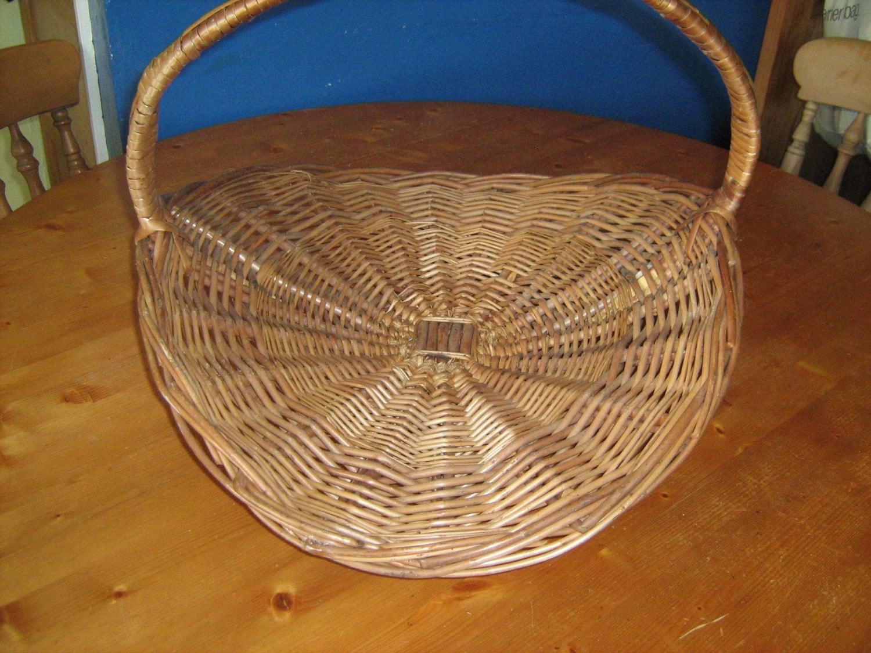 extra large vintage woven wicker basket memsartshop
