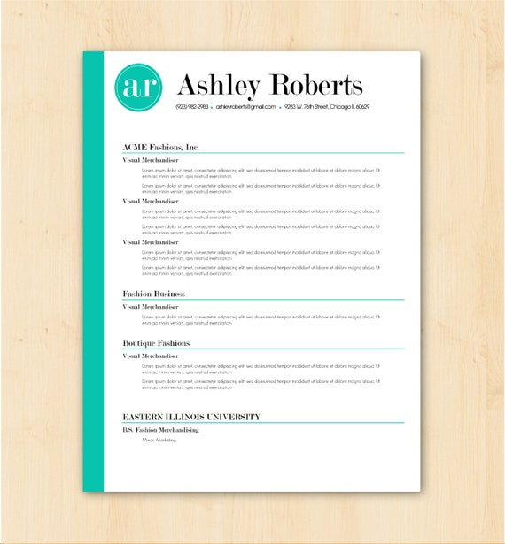 Professional Cv Resume Templates: Resume Template / CV Template The Ashley Roberts By PhDPress