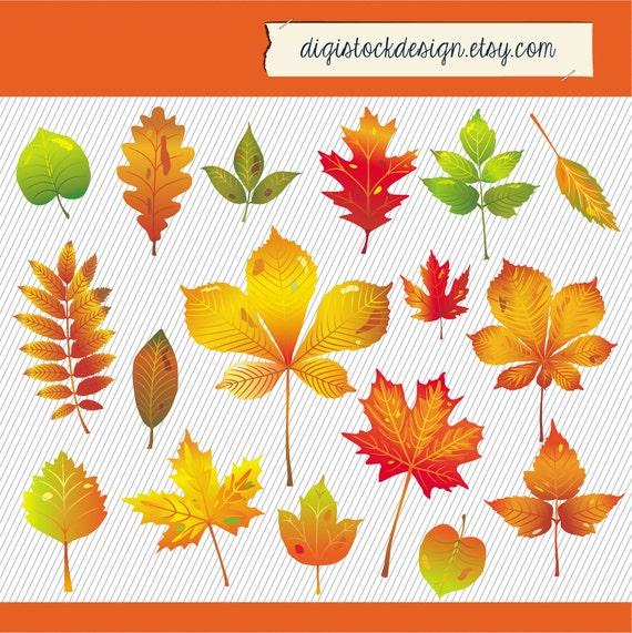 Ähnliche Artikel wie Herbst Blätter Clipart Herbst Baum