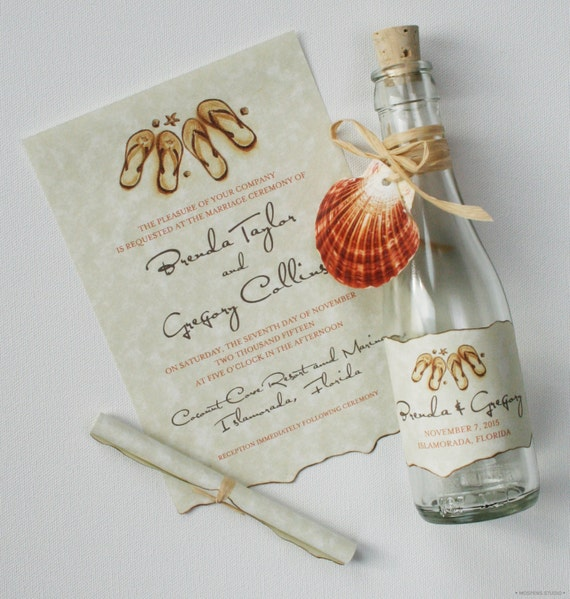 Message In A Bottle Wedding Invitations: Message In A Bottle Wedding Invitations Bottle Invitations