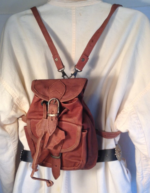 Mini backpackBrown leather backpack Backpack bag bag purse