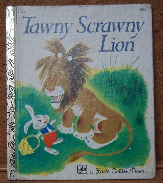 Vintage Children's Book - Tawny Scrawny Lion - Little Golden Books - 1979