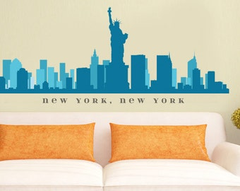 Las vegas nevada skyline wall decal art vinyl removable peel n for Real estate office wall decor