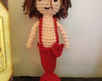 "Snuggleheart™ Mini Mermaids & Mermen...""Made with Love to Snuggle with Love!"" ...Meet Mini Merman 'Cutter'"