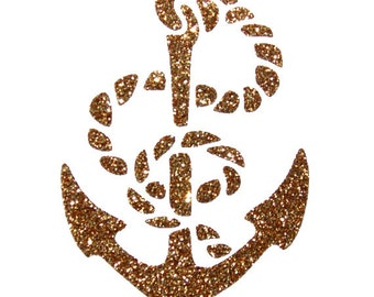 Anchor Nautical Iron On Decal You Choose the Color